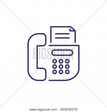 Fax Line Icon. Telephone, Print, Fax Machine. Office Concept. Can Be Used For Topics Like Equipment,