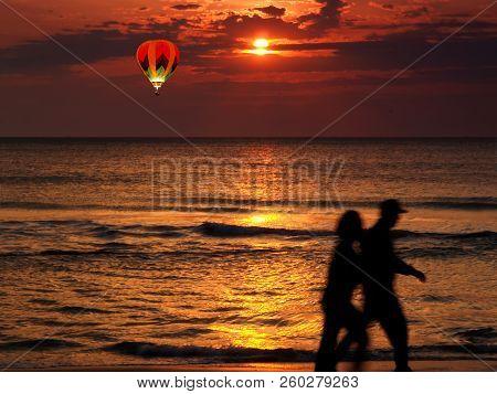A Beautiful Sun Rise At Virginia Beach
