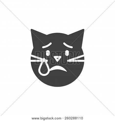 Crying Cat Emoticon Vector Photo Free Trial Bigstock