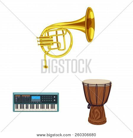 Vector Design Of Music And Tune Logo. Collection Of Music And Tool Stock Vector Illustration.