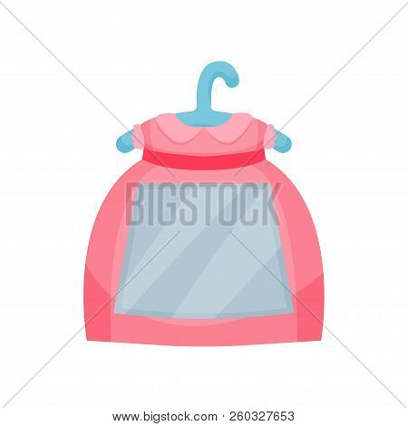 Cute Photo Frame In The Shape Of Dress, Album Template For Kids With Space For Photo Or Text, Card,