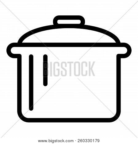 Pot Line Icon. Saucepan Vector Illustration Isolated On White. Casserole Outline Style Design, Desig