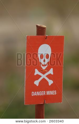 Minefield Sign