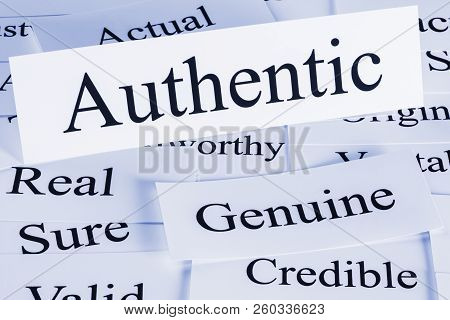 Authentic Concept - a conceptual look at authenticity, authentic, genuine, credible, actual, real sure poster