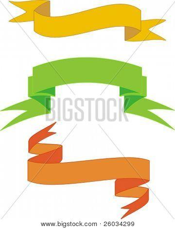 Variants of banners. Vector design elements