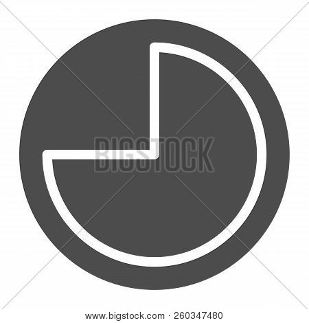 9 Hours Solid Icon. Forenoon Vector Illustration Isolated On White. Clock Glyph Style Design, Design
