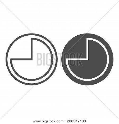 9 Hours Line And Glyph Icon. Forenoon Vector Illustration Isolated On White. Clock Outline Style Des