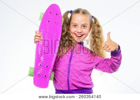 Child Hold Penny Board. Penny Board Of Her Dream. Best Gifts For Kids. Ultimate Gift List Help Pick