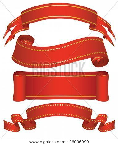 Variants of five banners. Vector illustration