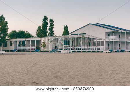 Holiday House On The Beach Of Ukraine. Beach House Exterior