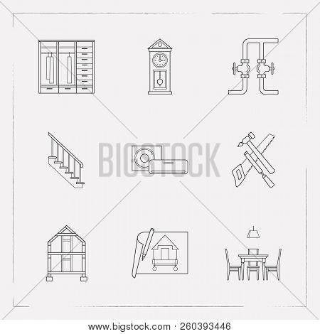 Set Interior Design Vector Photo Free Trial Bigstock