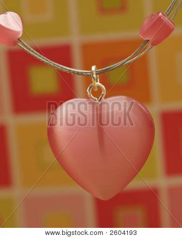 Pink Heart Pendant