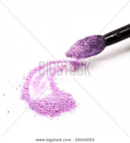 Cosmetic powder. Isolated on the white background