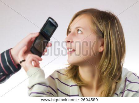 Girl Having A Phone Call