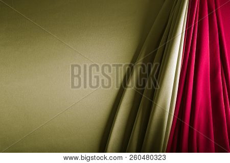 Gold And Wine Red Satin