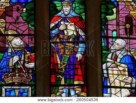 King Ramiro I Of Asturias In Oviedo Cathedral, Spain