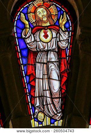 Jesus Christ - Stained Glass In Viana Do Castelo