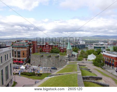 Quebec, City And Wall