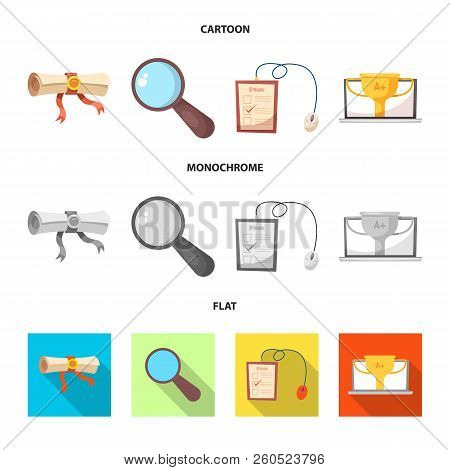 Isolated Object Of Education And Learning Logo. Set Of Education And School Stock Vector Illustratio