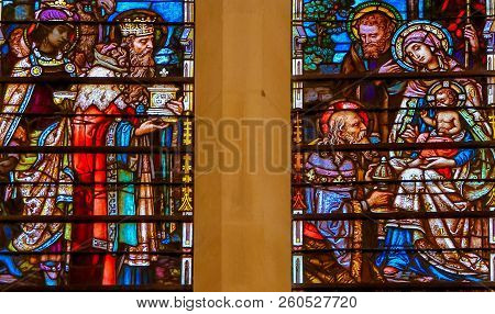 Epiphany Stained Glass In Burgos Cathedral