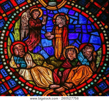 Jesus In The Garden Of Gethsemane - Stained Glass