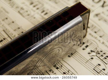 harmonica on music