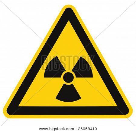 Radiation Hazard Symbol Sign Radhaz Threat Alert Icon Isolated Black Yellow Triangle Signage Macro