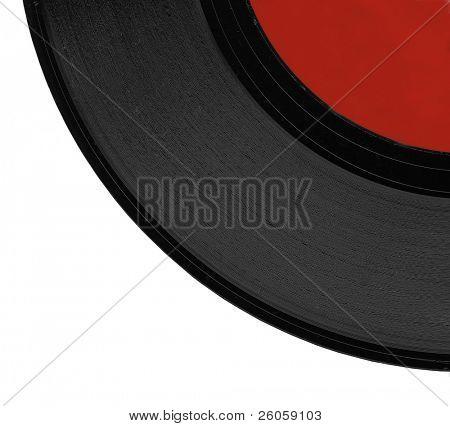 close up of black vinyl record