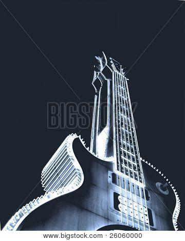 big blue guitar