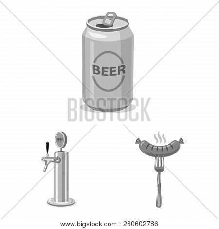 Vector Illustration Of Pub And Bar Sign. Set Of Pub And Interior Vector Icon For Stock.