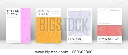 Abstract Cover. Quaint Design Template. Suminagashi Marble Minimal Poster. Quaint Trendy Abstract Co