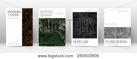 Abstract Cover. Outstanding Design Template. Suminagashi Marble Minimal Poster. Outstanding Trendy A