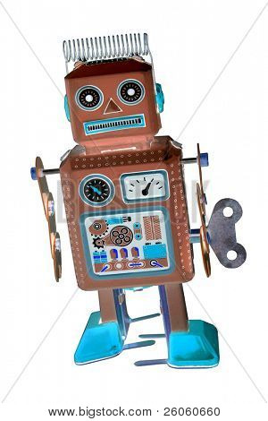 retro robot toy abstract