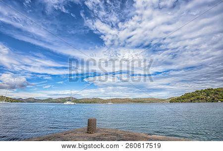 Kornati- Beautiful Mediterranean Coast Landscape In Dalmatia, Croatia, Europe