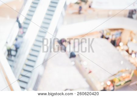 Abstract Shopping Mall Store Blurred On Background