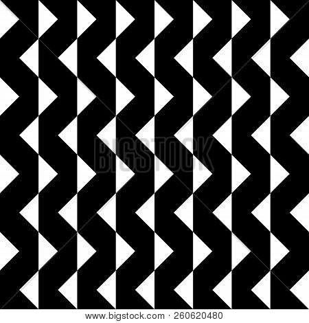 Abstract Arabesque Hypnotic Fence Zigzag Vertical Perspective Black On Transparent Background