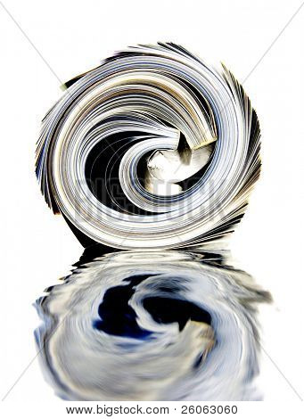 a rolled up magazine abstract image