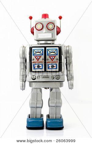 large retro robot toy