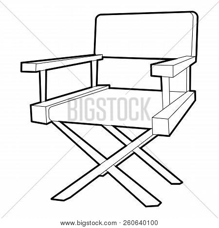 Film Director Chair Icon. Outline Illustration Of Film Director Chair Icon For Web