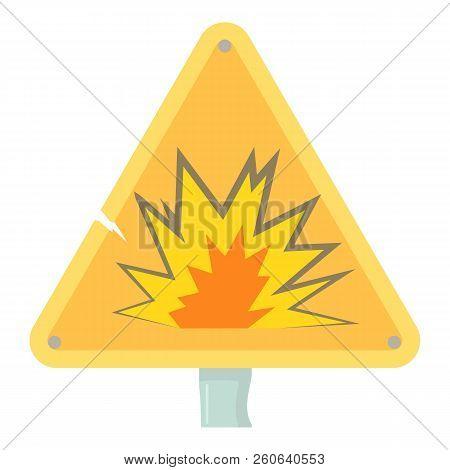 Danger Sign Icon. Cartoon Illustration Of Danger Sign Icon For Web