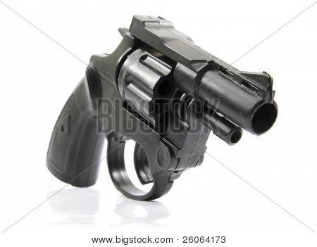 black plastic toy gun