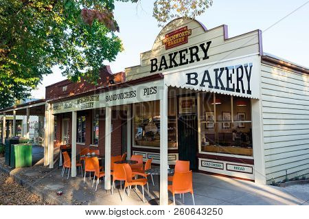 Yackandandah, Australia - April 30, 2018: Beechworth Bakery Is An Iconic Country Backery. This Is A