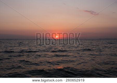 Sunrise By The Sea. Morning Sky At Sunrise. Sea At Sunrise.