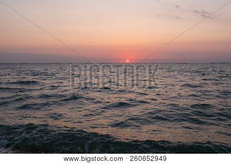 Sunrise. Morning sky at sunrise. Dawn by the sea. Sea at sunrise.