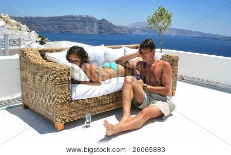Summer relaxation - honeymoon couple
