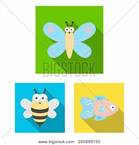 An Unrealistic Animal Flat Icons In Set Collection For Design. Toy Animals Vector Symbol Stock Web I