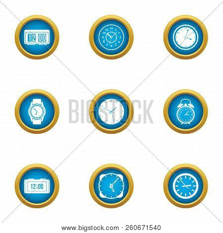 Duration Icons Set. Flat Set Of 9 Duration Vector Icons For Web Isolated On White Background