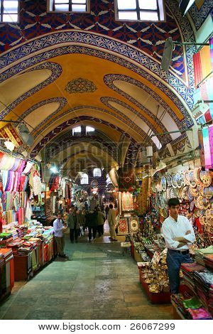 Grand bazaar shops in Istanbul