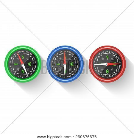 Navigation And Direction Icon. Compass, Direction And Navigation For Adventure, Illustration Of Comp