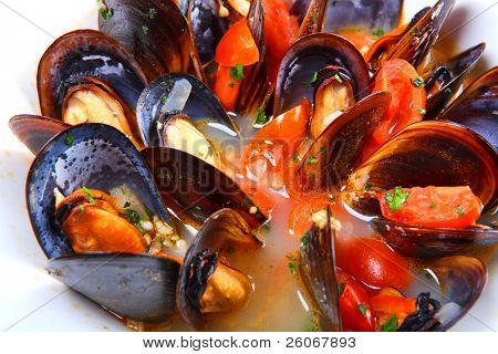 Mussels saute (ragout)